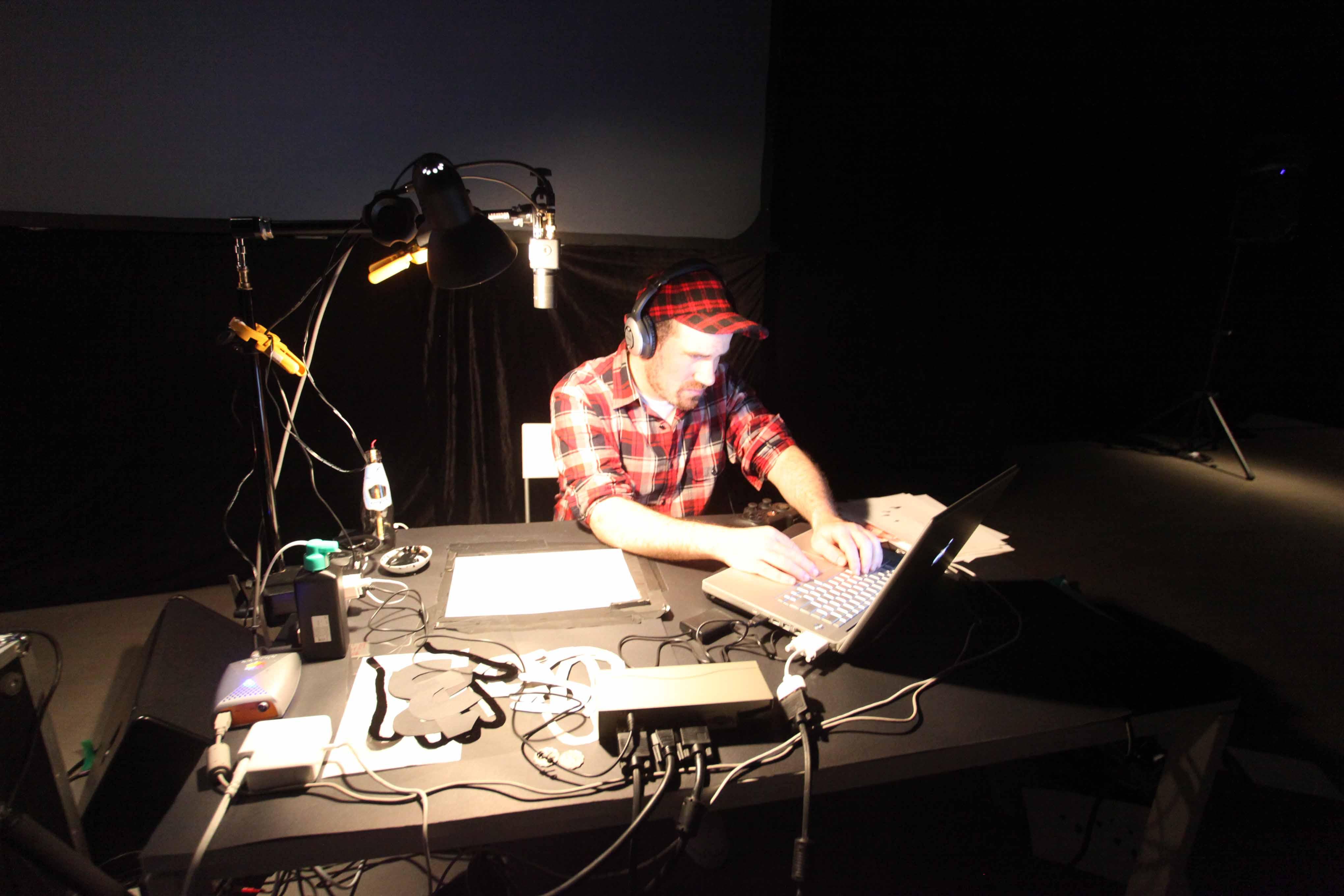Zachary Lieberman was presenting <i>Drawn</i>
