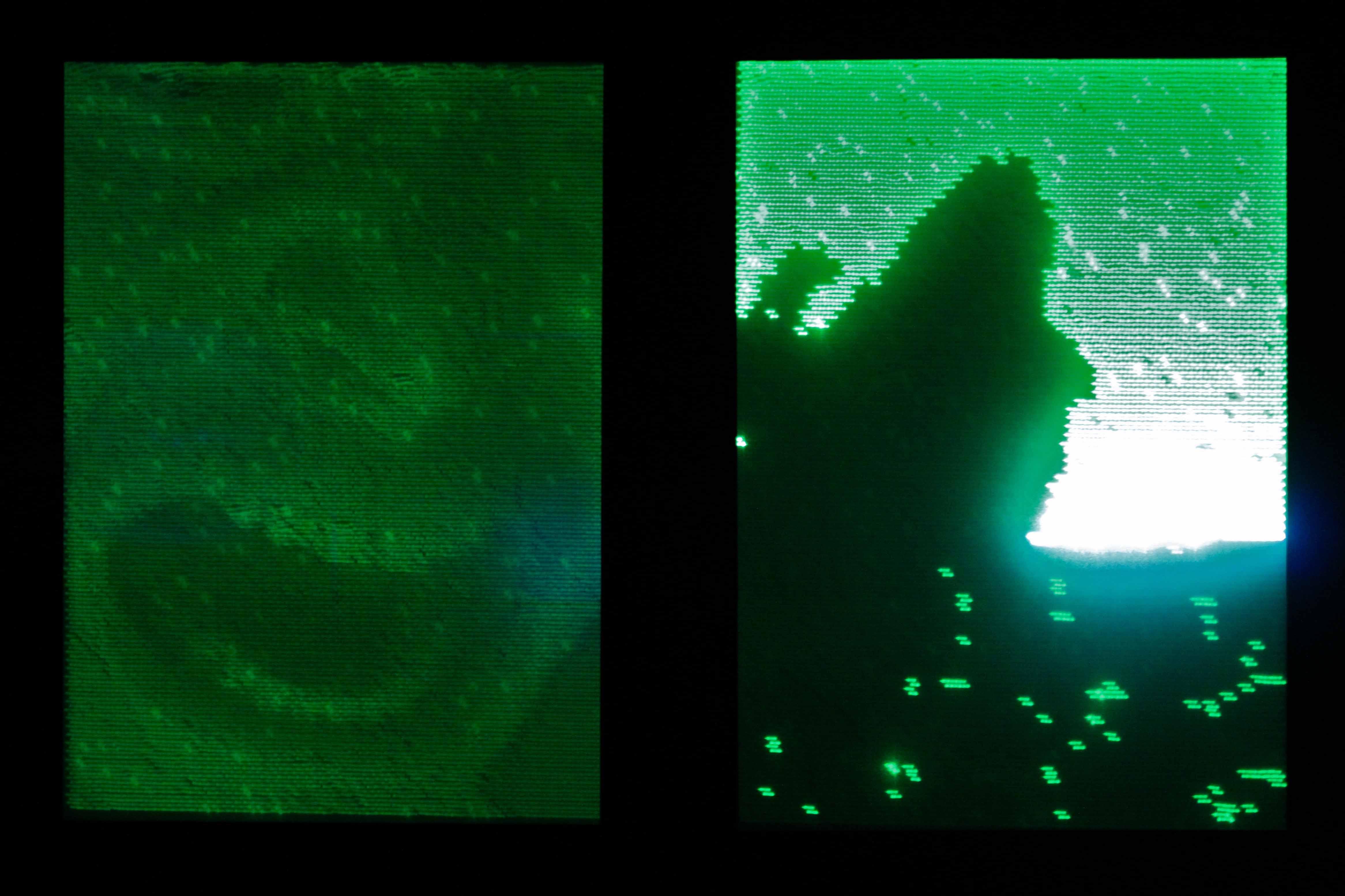<i>UV Laser Fade Out</i> by Daito Manabe